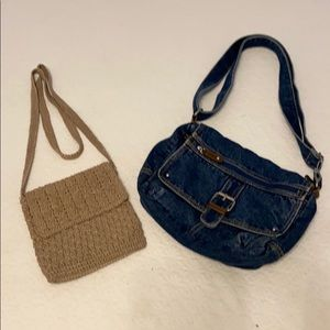 Frankie & Johnny Crocheted small shoulder bag
